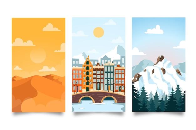Colección de paisajes diferentes