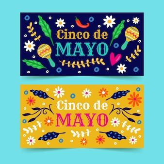 Colección de pancartas del cinco de mayo