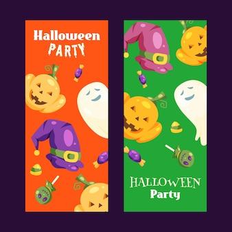 Colección de pancartas de halloween