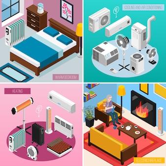 Colección de pancartas para el hogar inteligente