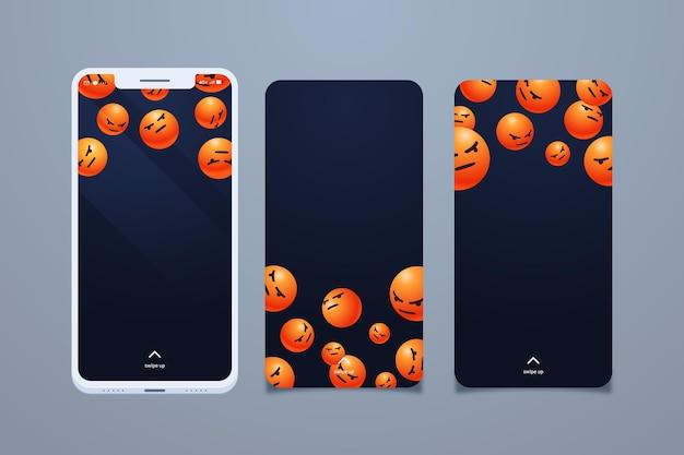Colección de pantallas de teléfonos inteligentes