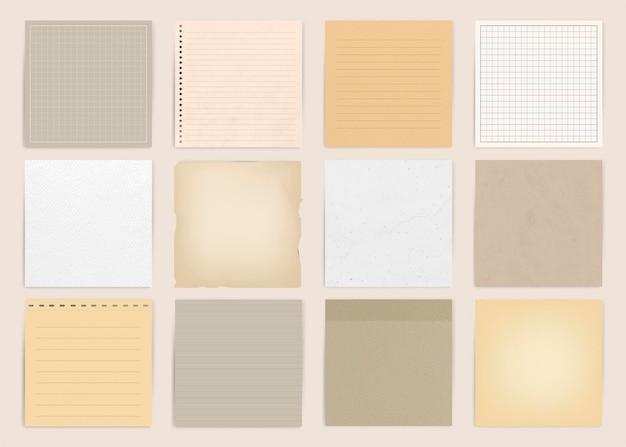 Colección de papel nota naranja