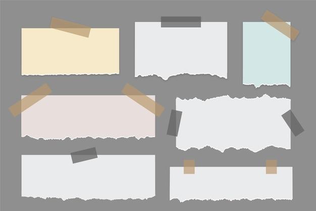 Colección de papel rasgado