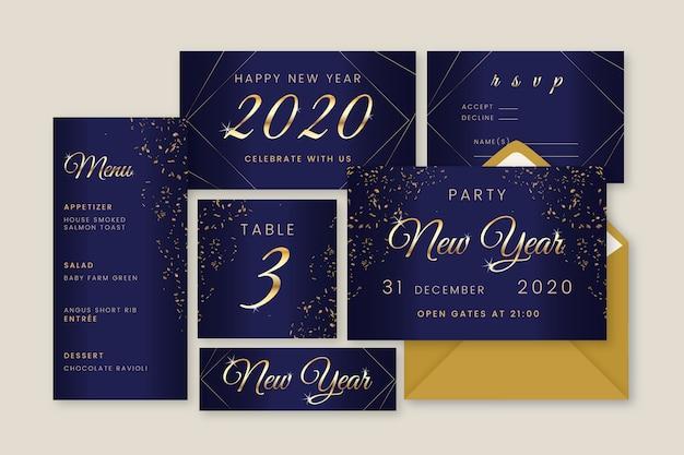 Colección de papelería de año nuevo