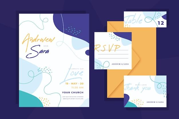 Colección de papelería de boda
