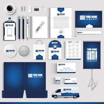 Colección de papelería de negocios