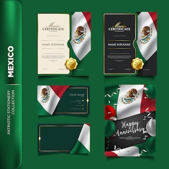Colección de papelería patriótica de méxico.