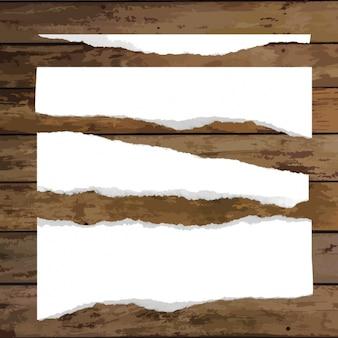 Colección de papeles en blanco