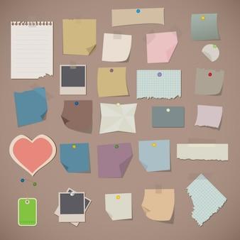 Colección de papeles planos