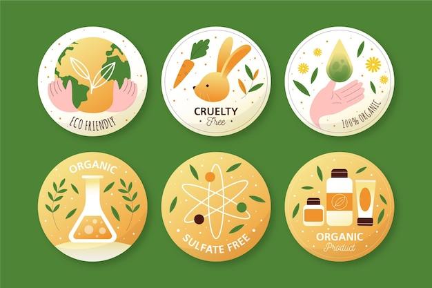 Colección de paquetes de insignias libres de crueldad