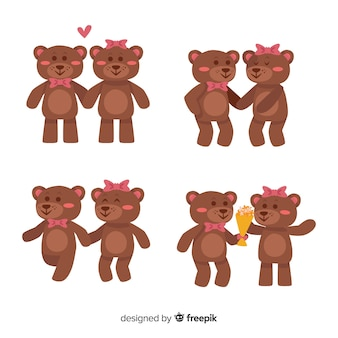 Colección pareja de osos san valentín