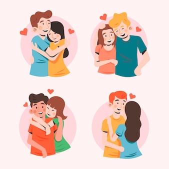Colección de pareja de san valentín