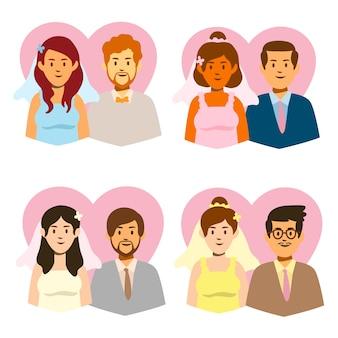 Colección de parejas de boda
