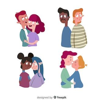 Colección de parejas del día de san valentín