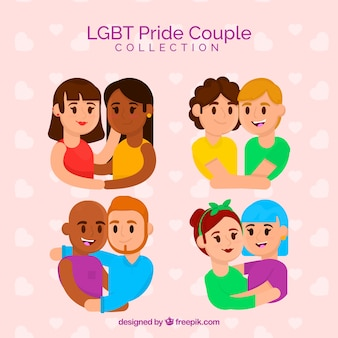 Colección de parejas de lgtb pride