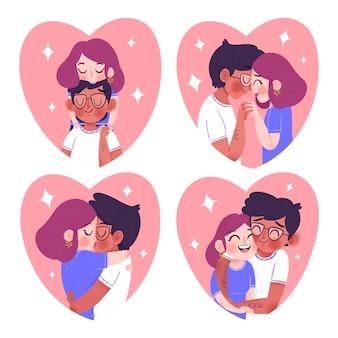Colección de parejas de san valentín