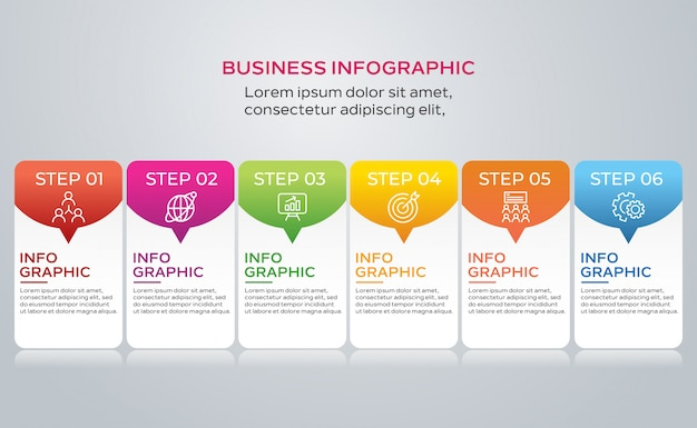Colección de pasos de infografía