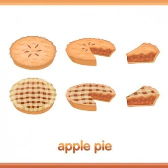 Colección de pasteles de manzana