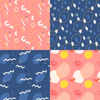 Colección de patrón abstracto dibujado a mano