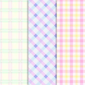 Colección de patrón de cuadros de color pastel