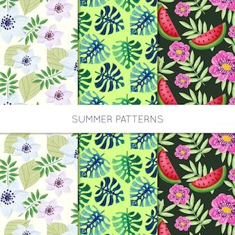 Colección de patrón de la naturaleza