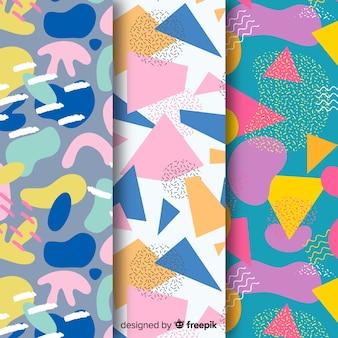Colección de patrones abstractos dibujar diseño