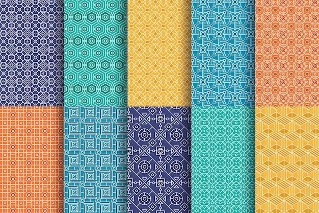 Colección de patrones árabes