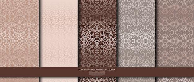 Colección de patrones arabescos de lujo.