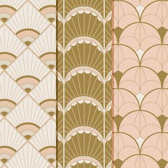 Colección de patrones art deco planos