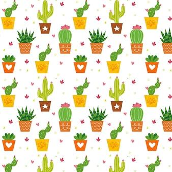 Colección de patrones de cactus