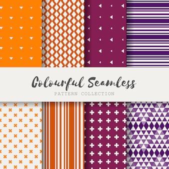 Colección de patrones de colores