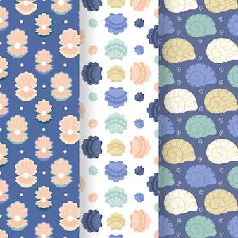 Colección de patrones de conchas