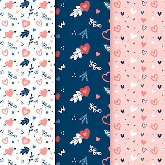 Colección de patrones de corazón