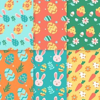 Colección de patrones de día de diseño plano