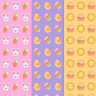 Colección de patrones para el día de pascua