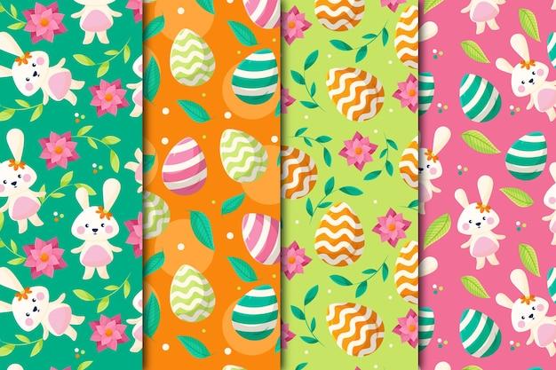 Colección de patrones del día de pascua
