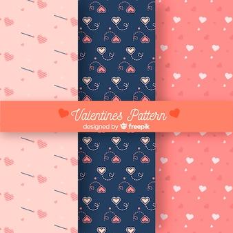 Colección de patrones del día de san valentin