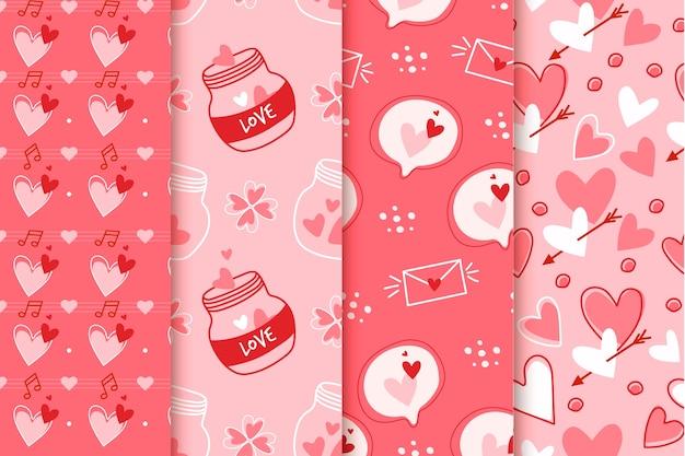 Colección de patrones para el día de san valentín