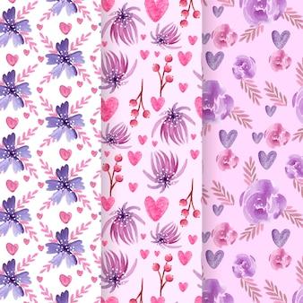 Colección de patrones del día de san valentín
