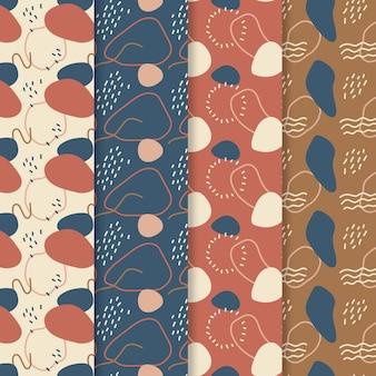 Colección de patrones dibujados a mano abstracta