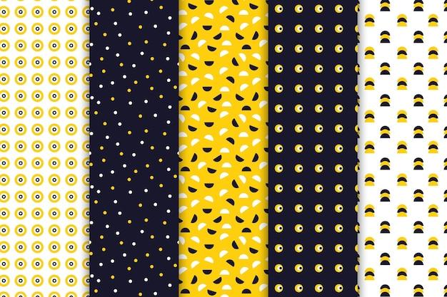 Colección de patrones de diseño geométrico