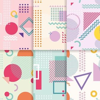 Colección de patrones de diseño de memphis
