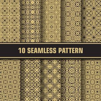 Colección de patrones dorados de lujo