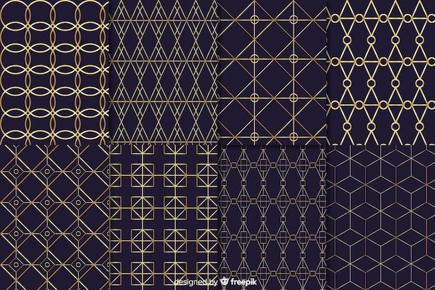 Colección de patrones elegantes y de lujo