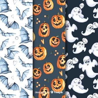 Colección de patrones para una espeluznante fiesta de halloween
