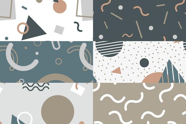 Colección de patrones de estilo memphis