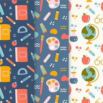 Colección de patrones de eventos de regreso a la escuela