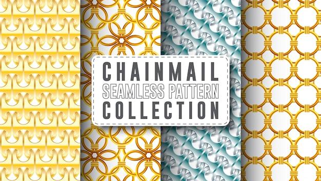 Colección de patrones sin fisuras de cota de malla