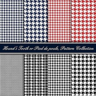 Colección de patrones sin fisuras de diente de sabueso