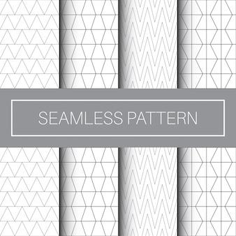 Colección de patrones sin fisuras con diseño minimalista de arte lineal